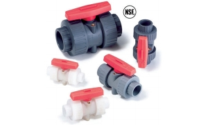 美国进口NSF认证 双活结通用安装手动球阀
